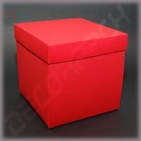 Шикарный красный куб для упаковки подарков 150*150*150 мм