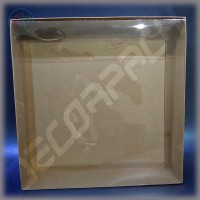Коробка 350*350*75 мм с прозрачной крышкой