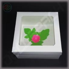 Коробка 200*200*100 мм (Прямоугольное окно, белый)