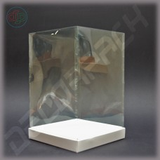 Коробка 120*120*170 мм с прозрачной крышкой-купол