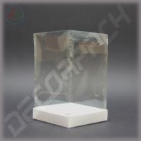 Коробка 140*140*160 мм с прозрачной крышкой-купол