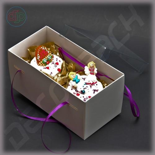 Коробка 200*100*100 мм с наружной пластиковой крышкой