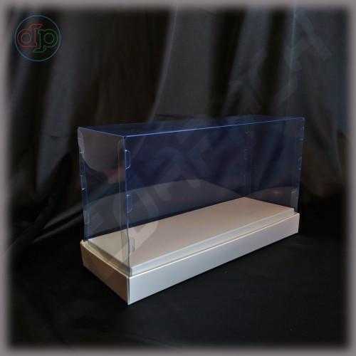 Коробка 235*85*130 мм с прозрачной крышкой-купол