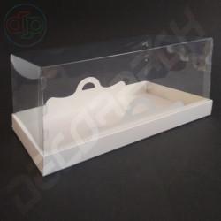 Коробка 250*120*120 мм с прозрачной крышкой-купол