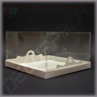 Коробка 250*250*120 мм с прозрачной крышкой-купол