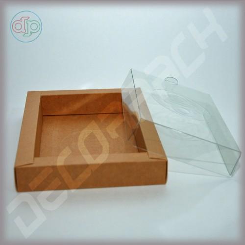 Коробка 180(150)*130(100)*25 мм  (с прозрачной крышкой)