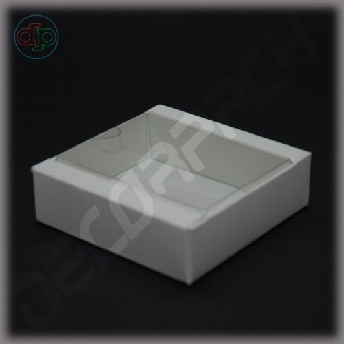 Коробка 80*80(60)*25 мм  (с прозрачной крышкой)
