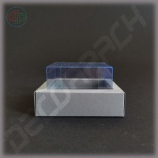 Коробка 100(80)*75(55)*25 мм  с внутренней пластиковой крышкой