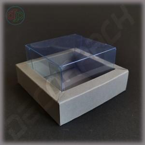 Коробка  90(70)*90(70)*25 мм с внутренней прозрачной крышкой (высота крышки 35 мм)