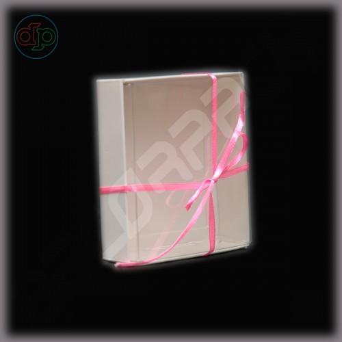 Коробка 90*90*22 мм с прозрачной внутренней крышкой