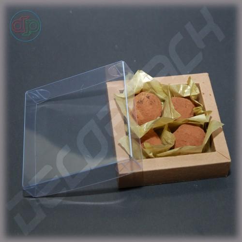 Коробка  90(70)*90(70)*25 мм с прозрачной крышкой