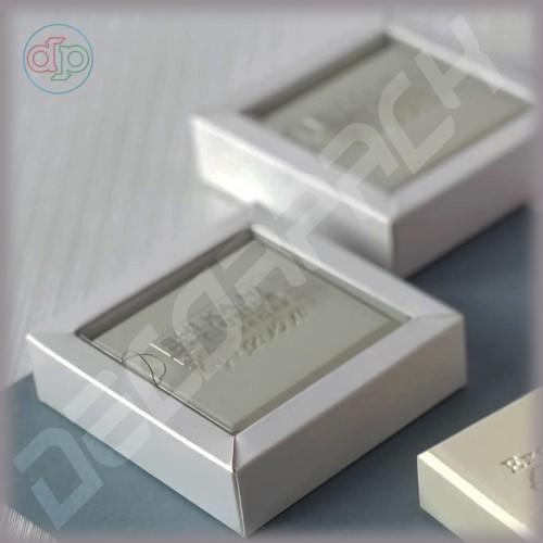 Коробка  90(70)*80(60)*25 мм с прозрачной внутренней крышкой