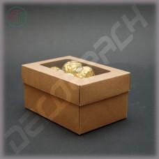 Коробка 120*80*60 мм  (c окошком, съемная крышка)