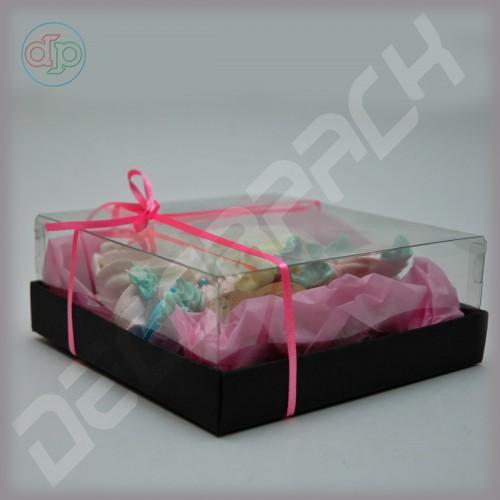 Коробка 150*150*55 мм  (с прозрачным куполом)
