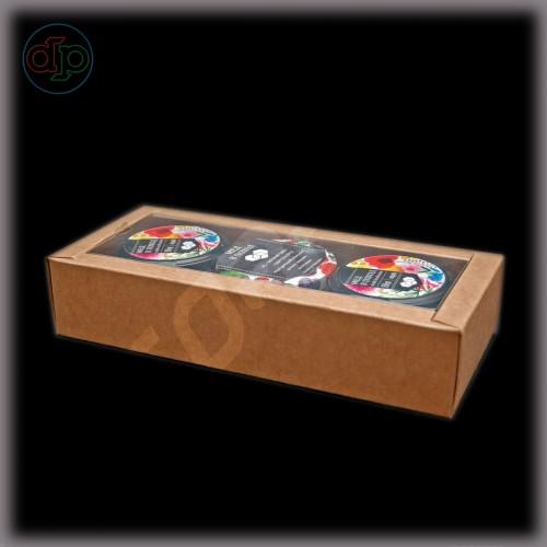 Коробка 240(210)*100(70)*50 мм  (с внутренней прозрачной крышкой)