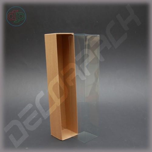 Коробка 260*50*50 мм  (прозрачная внутренняя крышка)