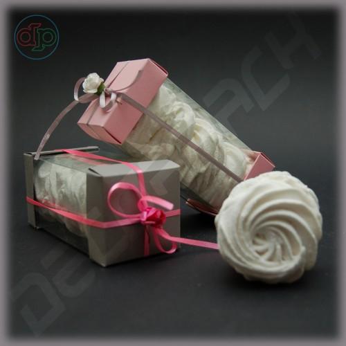 Коробка 60*60*140 мм  (с прозрачными стенками)