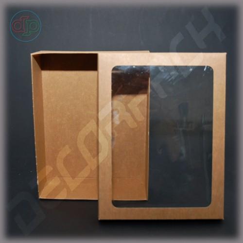 Коробка 200*150*50 мм  (c окошком,  съемная крышка)