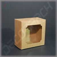 Коробка 100*100*60 мм  (c окном)