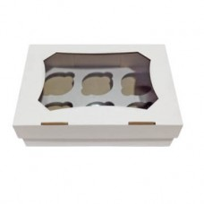 Коробка для капкейков на 6 шт. (с окном, микрогофрокартон)