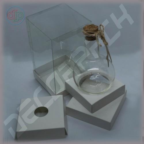 Коробка 100*100*175 мм  (с прозрачными стенками, аквариум)