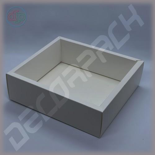 Коробка 200(180)*180(160)*60 мм  (с внутренней прозрачной крышкой)