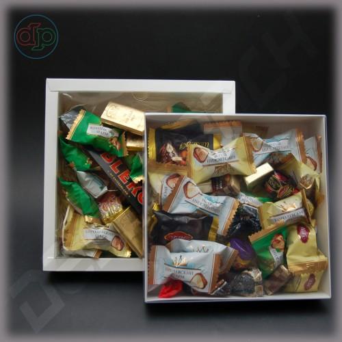 Коробка 230(200)*230(200)*50 мм  (с внутренней прозрачной крышкой)