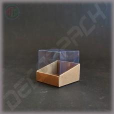 Коробка 60*60*60 мм  (трапеция, с прозрачной крышкой-купол)