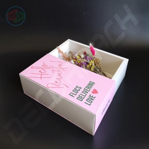 Коробка 300(270)*300(270)*80 мм , крышка-пенал на 1/2 коробки под склейку