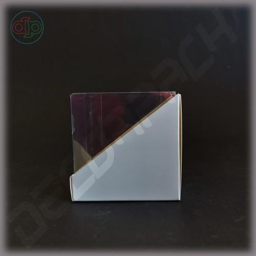 Коробка 80*80*85 мм  (трапеция, с прозрачной крышкой-купол)