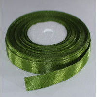 Лента атласная оливковый зеленый (ширина - 6мм)
