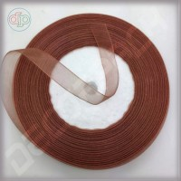 Лента из органзы коричневая 2 см