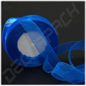 Лента из органзы синяя