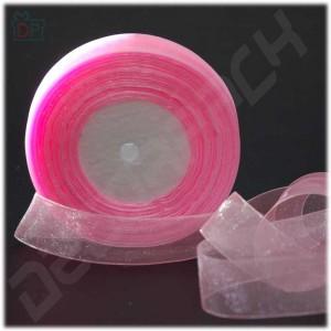 Лента из органзы розовая