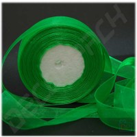 Лента из органзы зеленая