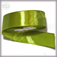 Лента атласная оливковый (ширина - 25 мм)