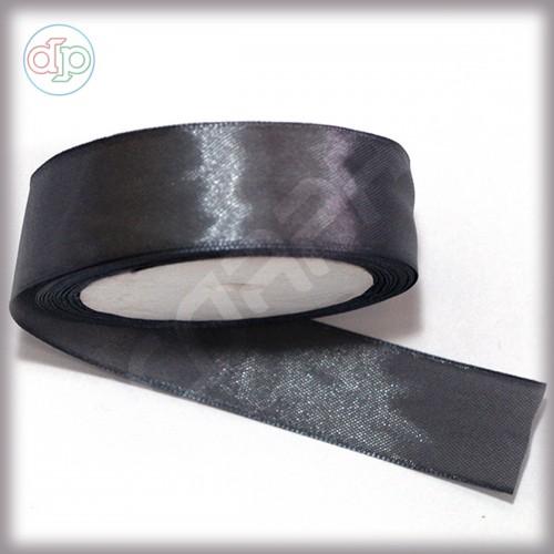 Лента атласная темно-серый (ширина - 25 мм)