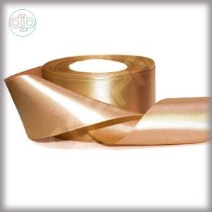Лента атласная золотая  (ширина - 25 мм)