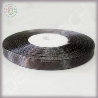 Лента атласная темно-серая (ширина - 6 мм)