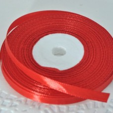 Лента атласная красная (ширина - 6 мм)