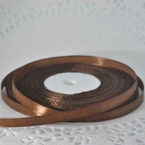 Лента атласная цвет шоколад (ширина - 6 мм)