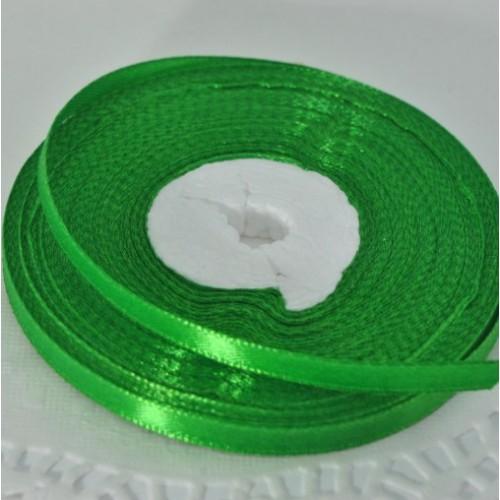 Лента атласная зеленая (ширина - 6мм)