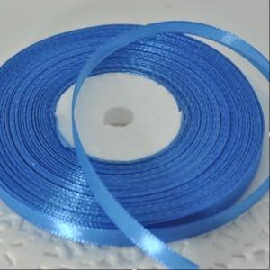 Лента атласная голубая насыщенная (ширина - 6мм)