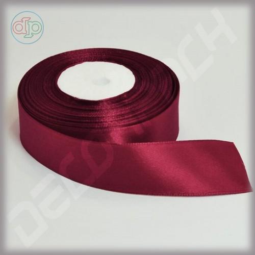 Лента атласная бордовый (ширина - 25 мм)