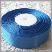 Лента атласная голубая насыщенная (ширина - 25 мм)