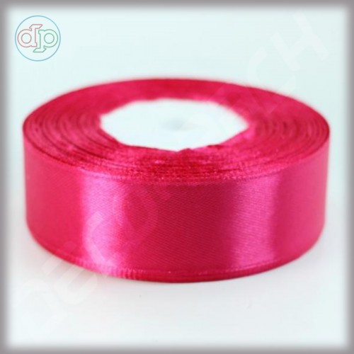Лента атласная ярко-розовый (ширина - 25 мм)