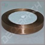 Лента атласная шоколад (ширина - 12 мм)