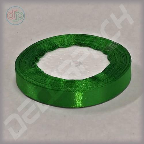Лента атласная зеленый (ширина - 12 мм)