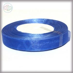 Лента из органзы голубая 2 см