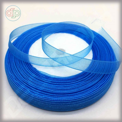 Лента из органзы темно-синяя 2 см